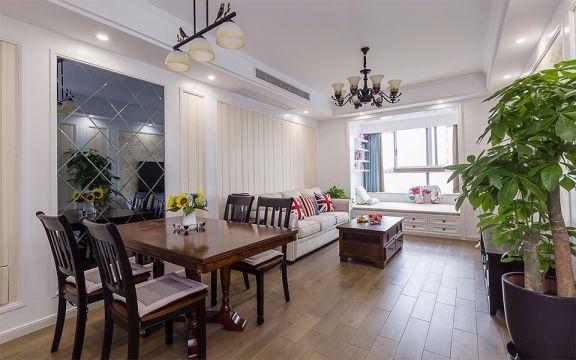 田园风格75平米两室两厅新房装修效果图