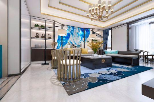 186平米四室两厅两卫新中式风格装修效果图