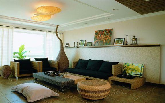 8万预算78平米两室两厅装修效果图