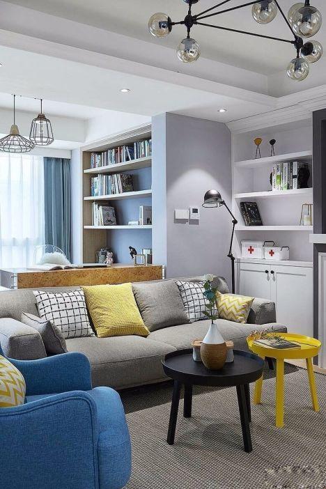 客厅茶几北欧风格装潢设计图片