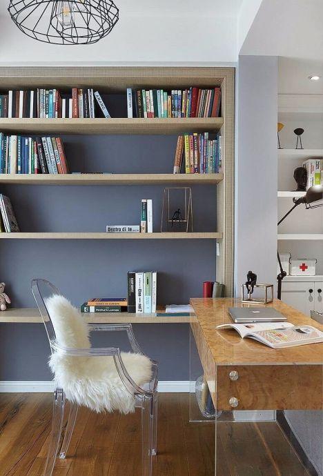 书房书架北欧风格装饰效果图