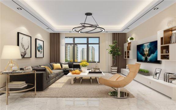 简约风格135平米大户型新房装修效果图