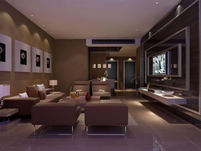 客厅背景墙现代简约风格装潢图片