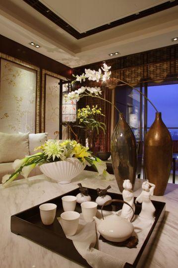 客厅茶几新中式风格装修设计图片