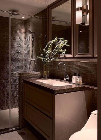 浴室隔断现代简约风格装饰图片