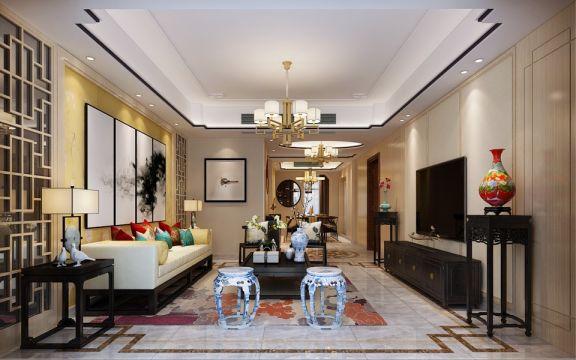 12.4万预算209平米四室两厅装修效果图