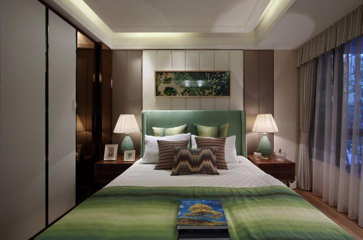卧室床北欧风格装潢效果图