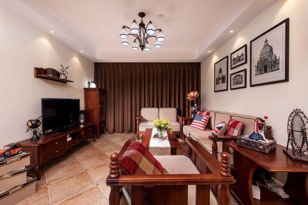 保利达江湾城142平米三居室装修效果图