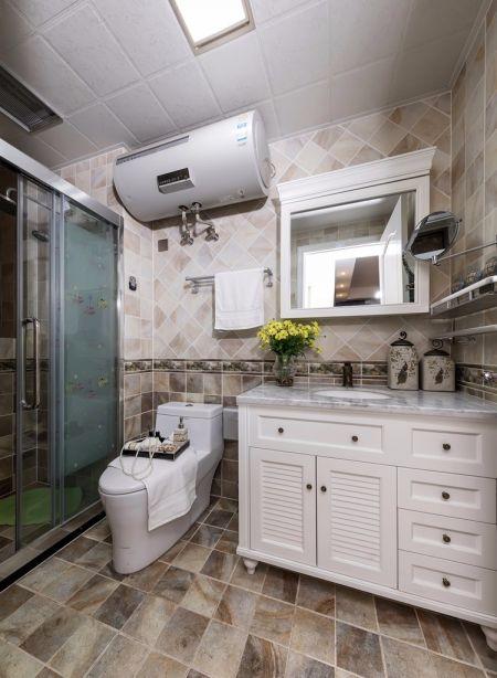 卫生间地砖现代风格装潢图片