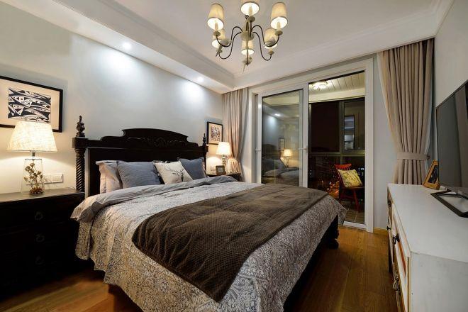 卧室灯具美式风格装修设计图片
