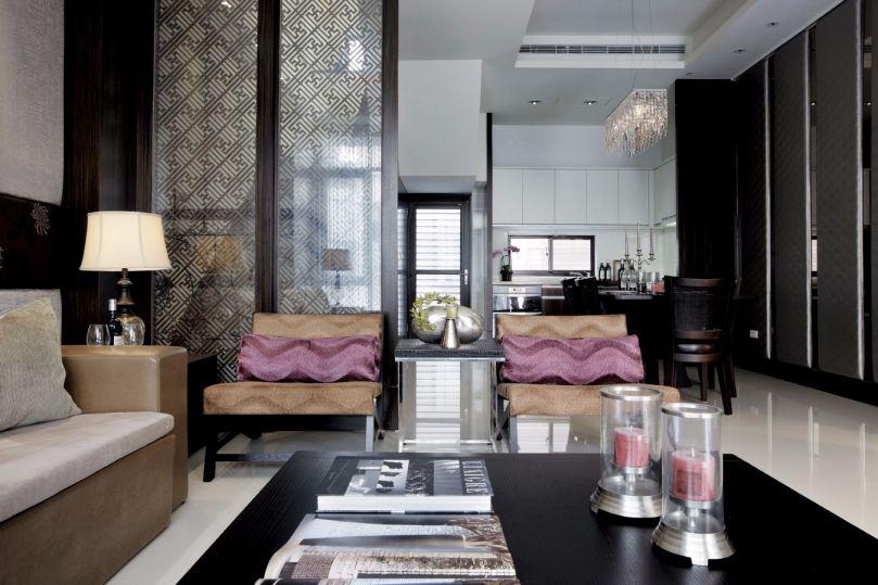 客厅隔断新中式风格装饰效果图