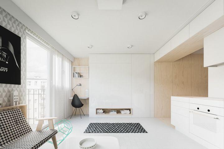 永立龙邸60平米一居室现代简约装修效果图