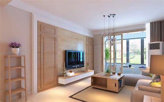 经纬家园120平米三室两厅简约风装修效果图