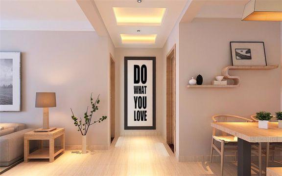 起居室走廊简约风格效果图