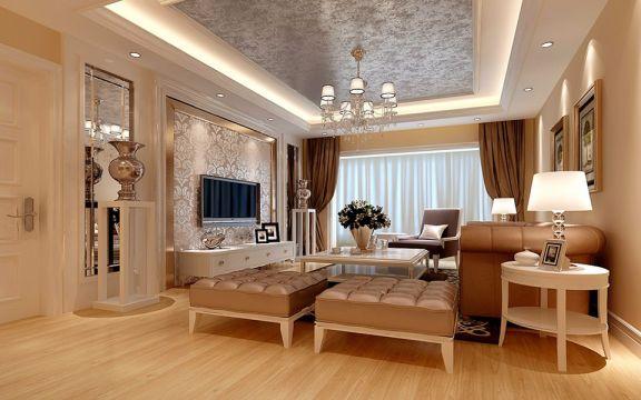 16万预算145平米三室两厅装修效果图