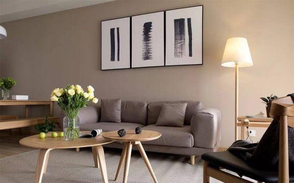 客厅米色沙发简单风格装修效果图