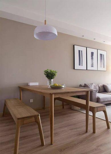 餐厅米色餐桌简单风格装饰效果图