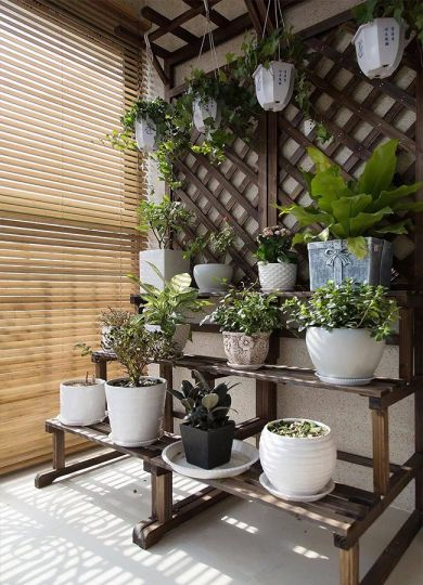 阳台绿色细节简单风格装饰图片