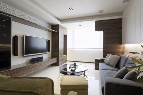 简约客厅沙发装潢实景图