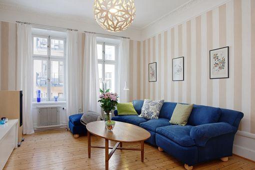 90平简装欧式风格二居室效果图