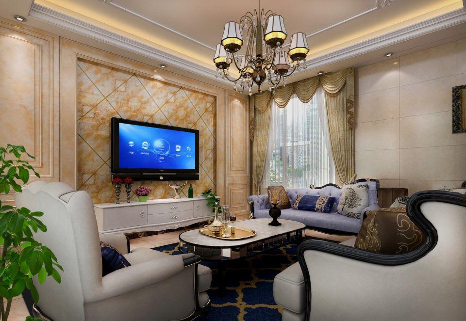 300平欧式奢华风格四居室效果图