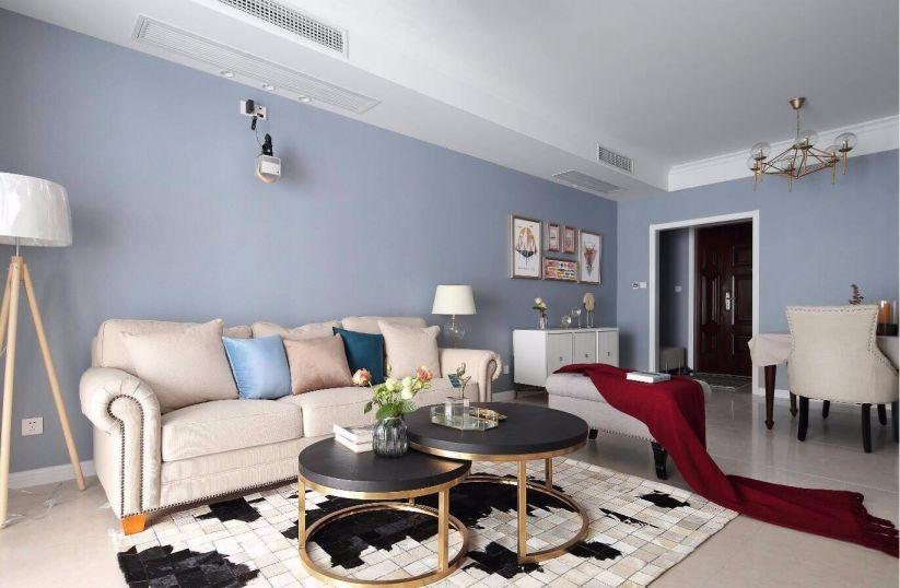 新城璟悦城小区125平美式风格两居室装修效果图
