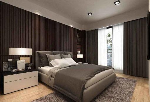 122平米现代风格二居室装修效果图