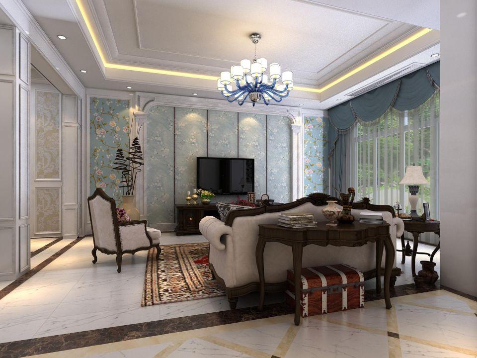 300平欧式小清新别墅4室3厅效果图