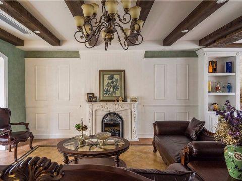 客厅咖啡色茶几地中海风格装修效果图