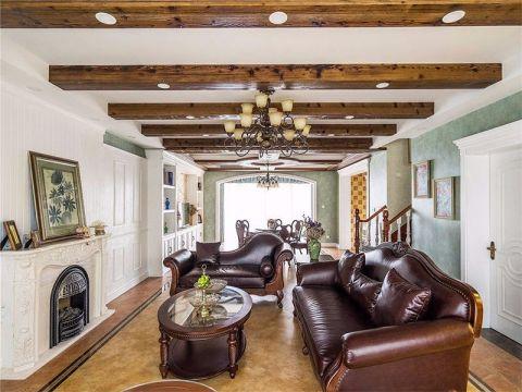 客厅红色茶几地中海风格装饰效果图