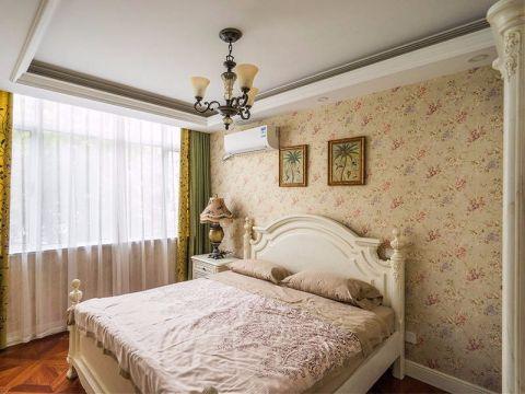 卧室绿色窗帘地中海风格装潢效果图