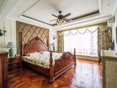 卧室红色地板砖地中海风格装修图片