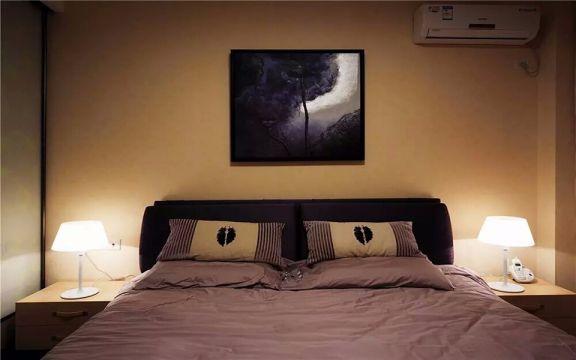 卧室黄色背景墙简约风格装饰效果图