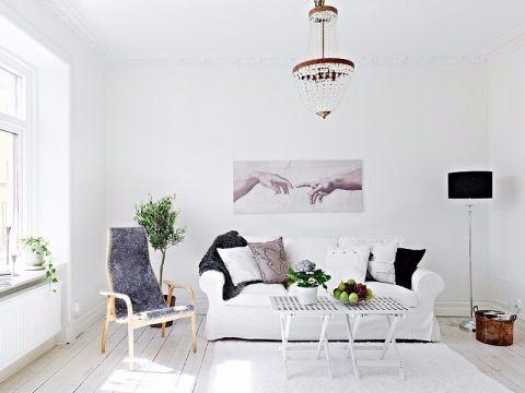 客厅白色沙发简约风格装修效果图