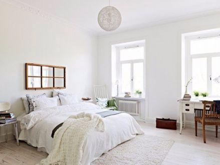 卧室白色床简约风格装修图片
