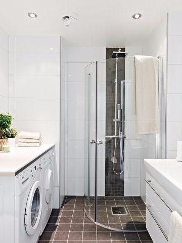 卫生间白色洗漱台简约风格装饰图片