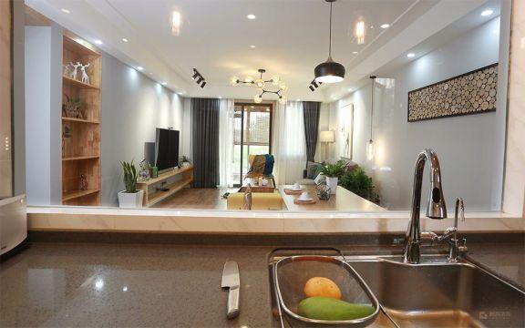厨房厨房岛台北欧风格装饰图片