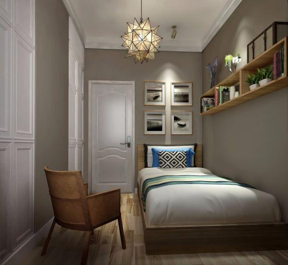 保利金香槟混搭风格90平米三居室装修效果图