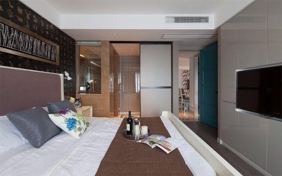 卧室床混搭风格装饰图片