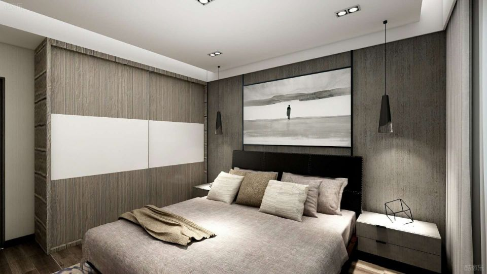 卧室衣柜现代简约风格装修设计图片