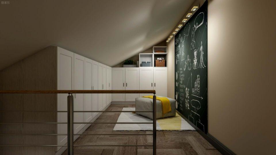 书房米色细节简约风格装潢设计图片