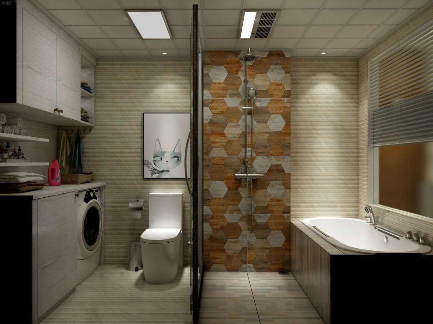 卫生间米色隔断简约风格效果图