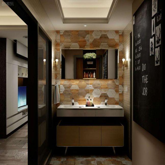 卫生间米色地砖简约风格装饰效果图