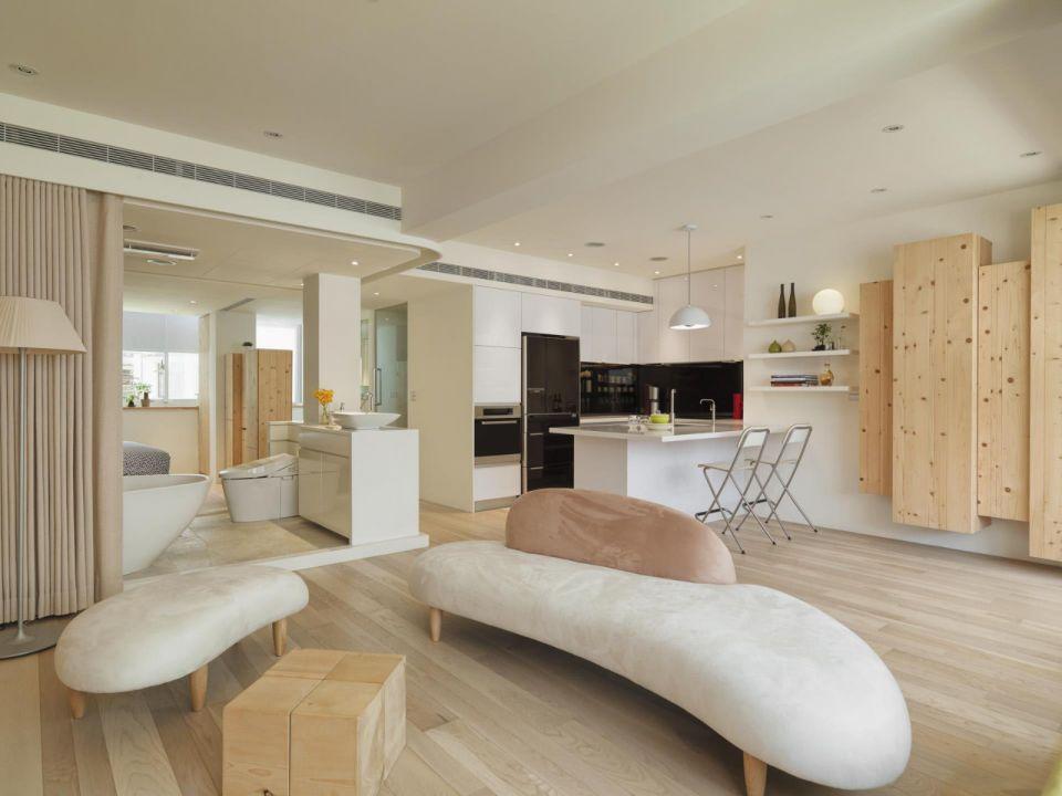 现代简约风格70平米一居室新房装修效果图