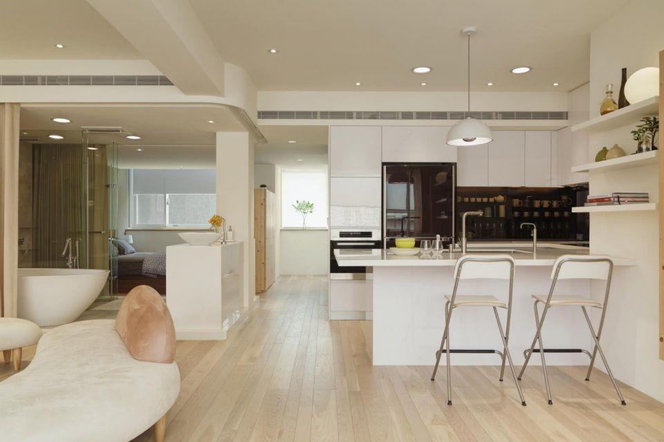厨房厨房岛台现代简约风格装饰图片