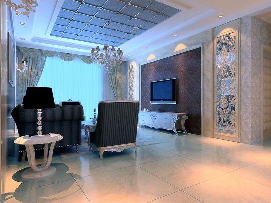 客厅地砖现代风格装修图片
