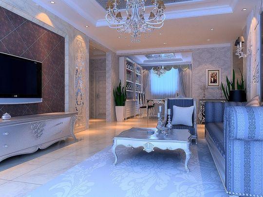 12万预算158平米四室两厅装修效果图
