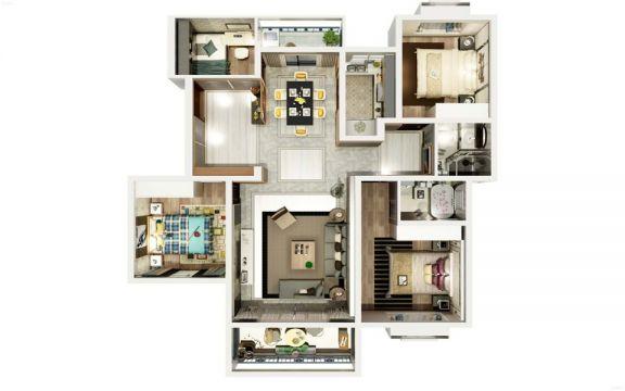 地板砖现代简约风格装饰效果图