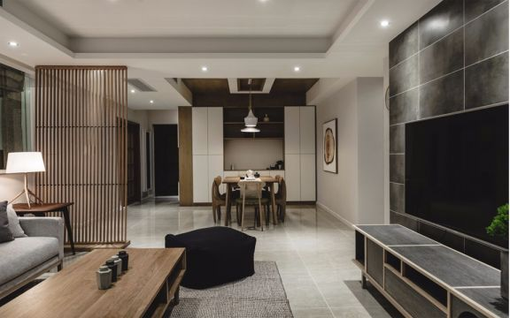 客厅咖啡色茶几现代简约风格装修图片