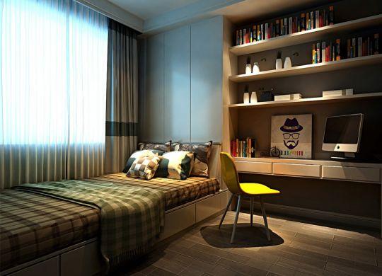 卧室书架美式风格装潢效果图